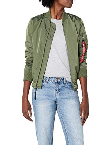 Alpha Industries Damen Ma-1 TT Bomberjacke, Grün (Sage-Green 01), Medium