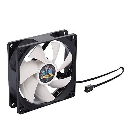 Haihuic Ventilador de 90mm LED RGB Ruido bajo para Cajas de computadoras, refrigeradores de CPU y Sistemas de radiadores, Ventilador silencioso de Repuesto