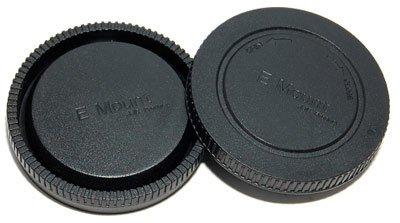 Gehäuse-/Objektivrückdeckel Set/Front- und Rück- Deckel für Kamera-Gehäuse und Objektiv Sony NEX Body (E-Mount)