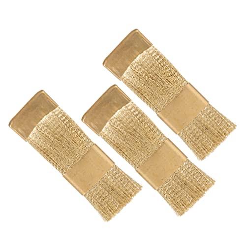 ULTECHNOVO 3Pcs Nail Drill Bit Pulitore di Spazzola di Arte Del Chiodo Punte di Pulizia Spazzola di Filo di Rame Trapano Cleaner per Manicure Accessori Dentale Attrezzature Pennello D' oro