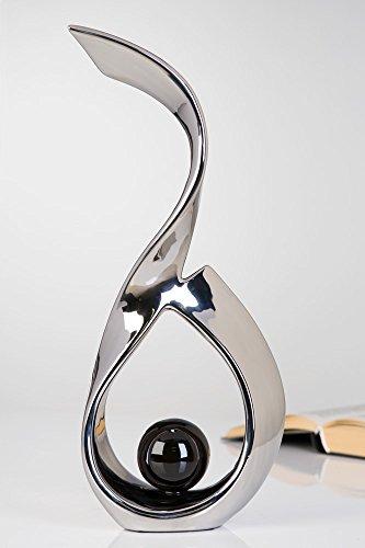 Escultura Decorativa Bola Negra Casablanca Objeto de Arte Figura de Decoración