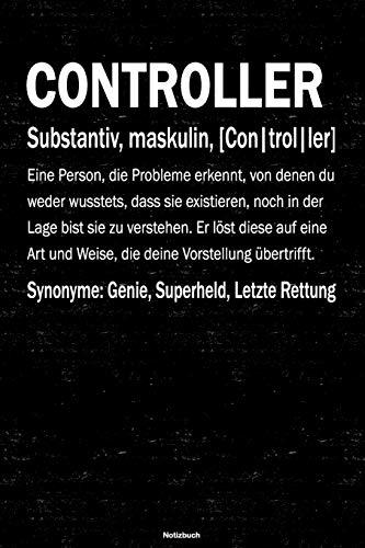 Controller Notizbuch: Controller Journal DIN A5 liniert 120 Seiten Geschenk