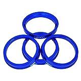 Alurad Shop Z-666571ALU Centraggio Alluminio 4 Blu