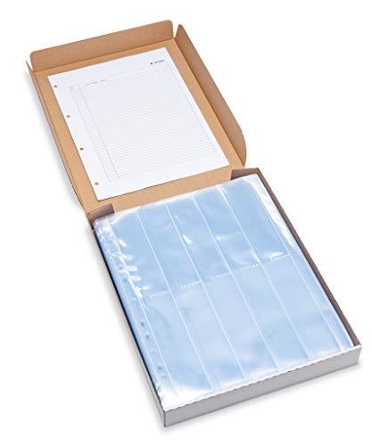 HERMA 7768 Fotophan Negativhüllen DIN A4 transparent (10 x 4 Streifen, 100 Hüllen, Folie) für Kleinbild-Negative im Format 35 mm mit Sicherheitslasche & Eurolochung