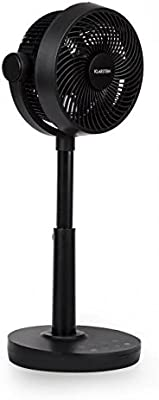 KLARSTEIN Neo Stream • Table Fan • Adjustable • Air Circulator • Remote Control • 8 Modes • Oscillating • Portable • Strong and Quiet Operation • Black