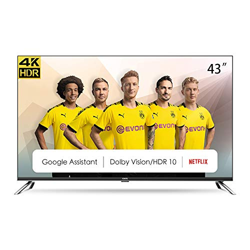 CHiQ Televisor Smart TV LED 43', Resolución 4K UHD, HDR10/HLG, Android 9.0, WiFi, Bluetooth, Netflix, Prime Video, HDMI,...