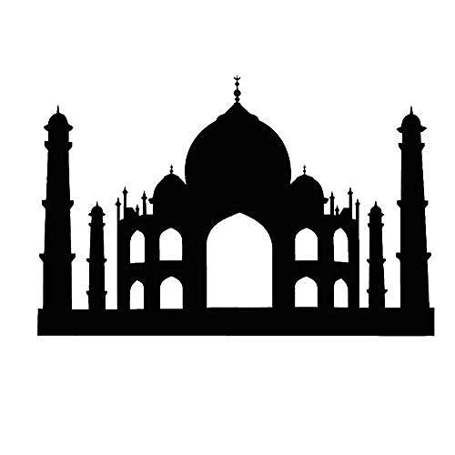 Pegatina PVC impermeable islámico musulmán Grand Masjid etiqueta de la pared sala...
