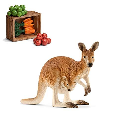 Wildlife Schleich 14756 Känguru + 42115 Futterset