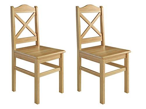 Erst-Holz® Küchenstuhl Massivholzstuhl Esszimmerstuhl Kiefer 2X Stühle 90.71-20-D