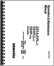 Komatsu D31A-17 Dsl Crawler (32001&uP) Operators Manual