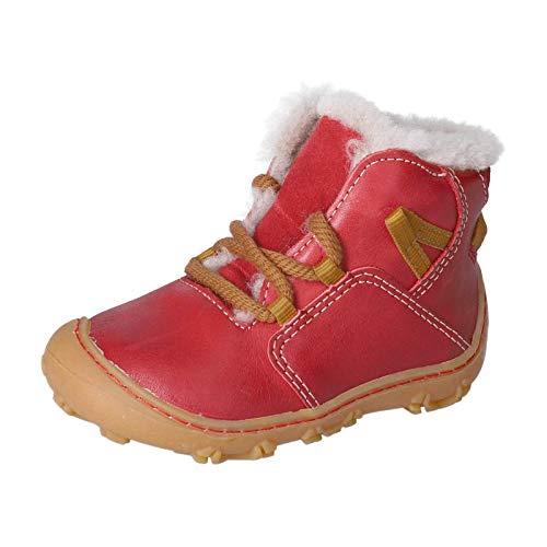 RICOSTA Kinder Barfußschuhe ENZO von Pepino, Weite: Weit (WMS),Barfuß-Schuh, schnürschuh flexibel leicht Kinder Kids Jungen,Kamin,24 EU / 7 Child UK
