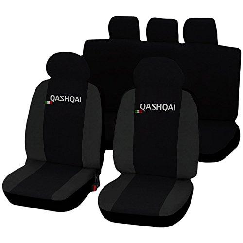 Lupex Shop Qashqai_N.Gs Qashqai zweifarbige Sitzbezüge, Schwarz/Dunkelgrau