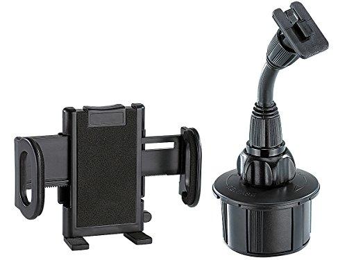 NavGear Kfz Smartphone Halterung: Universal Schwanenhals-Halterung für Kfz-Getränkehalter (Handyhalterung Getränkehalter)