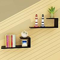LXD ブックケース、本棚の木製のパネル素材の壁掛けリビングルームの壁棚モダンなミニマリストの装飾的なフレーム、9色,4