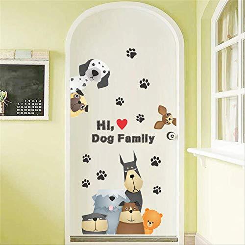 RUIRUI Cute Dog Paw Wall Sticker For Kids Room Car Door Family Decoration Cartoon Animal Wall Decal Decoration Diy Poster