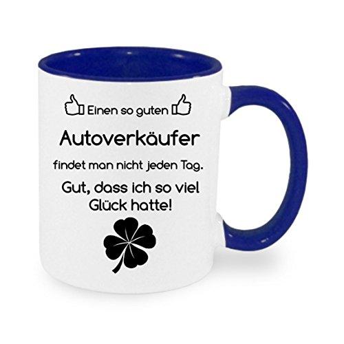 Creativ Deluxe Einen so Guten Autoverkäufer findet Man Nicht. - Kaffeetasse mit Motiv, Bedruckte Tasse mit Sprüchen oder Bildern - auch individuelle Gestaltung nach Kundenwunsch