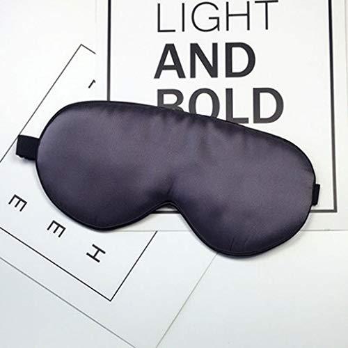 LLKK Máscara de Ojos,máscara de Seda de Doble Cara 100% Seda de Morera,máscara para Dormir para el Almuerzo Unisex Ajustable