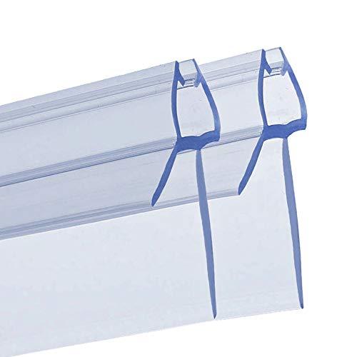 PREMIUM GRID - 2x100cm Duschtür Dichtung für 6mm 7mm 8mm Glastür Stärken | Wasserabweisende Duschdichtung oder Duschkabinen-Dichtung mit optimal angeordneten Gummilippen