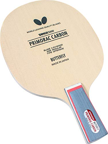 Butterfly Primorac Carbon CS Blade - TAMCA 5000 Carbon Fiber Blade - Chinese Style Penhold Blade Suitable for Traditional or Reverse Penhold Backhand - Professional Table Tennis Blade - Made in Japan