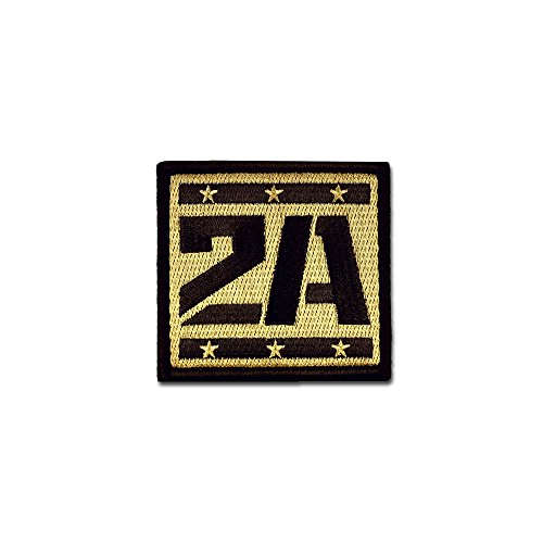BASTION Morale Patches (2A Supporter, ACU) | 3D Embroidered Patches with Hook & Loop Fastener Backing | Well-Made Clean Stitching | Military Patches Ideal for Tactical Bag, Hats & Vest