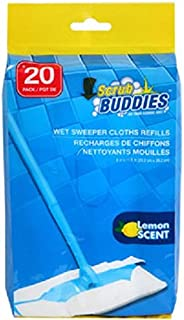 Scrub Buddies Wet Sweeper Cloth Refills - One Pack of 20 Refills
