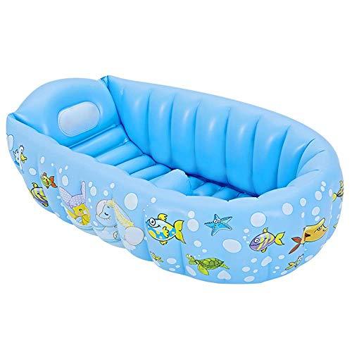 SANON Piscina Inflable, Zona Infantil, así Rectangleinflatable niños Pool90x64x23cm bebé Doble Bañera Fit Verano del jardín del Agua Juegos de Juguete WTZ012 (Color : Blue)