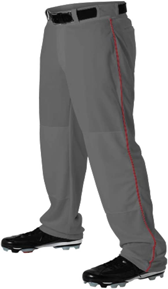 Teamwork Youth Baseball Pants Max 46% OFF Graphite w Bot Inexpensive Open Pipe Large Red