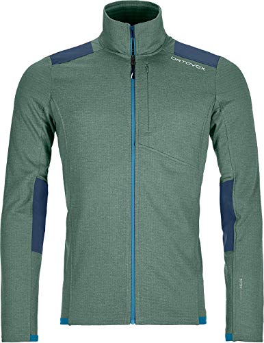 ORTOVOX Herren Fleece Light Grid Fleecejacke grün L