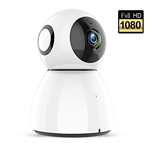 Wireless Home Security Camera System, Video Baby Monitor with Camera and Audio, 1080p HD WiFi Security Video Camera, Night Vision for Indoor and Outdoor Home Safe Security, Kids Camera White