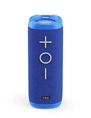Tribit StormBox bluetoothスピーカー IPX7完全防水 ワイヤレススピーカー 24W 高出力 ポータブルスピーカー 360度スピーカー 20時間連続再生 ブルートゥーススピーカー 高音質 重低音/内蔵マイク/アウトドア お風呂 iPhone & Android対応 18ヶ月の保証 ブルー BTS30