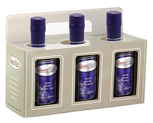Geschenkbox 3x 0,5L Crema Dattel Feige, Cranberry, Himbeer Manufaktur Qualität