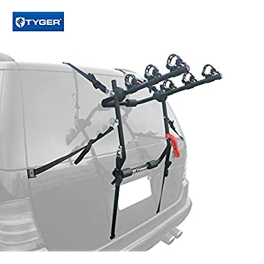 Tyger Auto TG-RK3B203S Deluxe 3-Bike Trunk Mount Bicycle Bike Rack. (Fits most Sedans/Hatchbacks/Minivans and SUVs.)