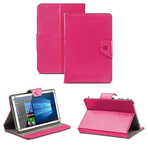 NAUC Universal Tasche Schutz Hülle Tablet Schutzhülle Tab Hülle Cover Bag Etui 10 Zoll, Tablet Modell für:Toshiba Encore 2 10.1, Farben:Pink mit Magnetverschluss