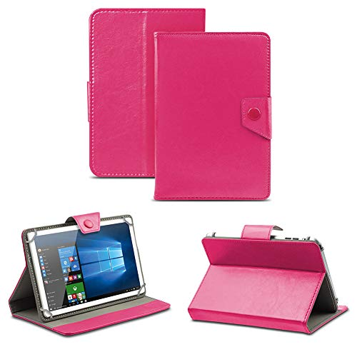 NAUC Universal Tasche Schutz Hülle Tablet Schutzhülle Tab Hülle Cover Bag Etui 10 Zoll, Tablet Modell für:BLAUPUNKT Endeavour 1000 WS, Farben:Pink mit Magnetverschluss