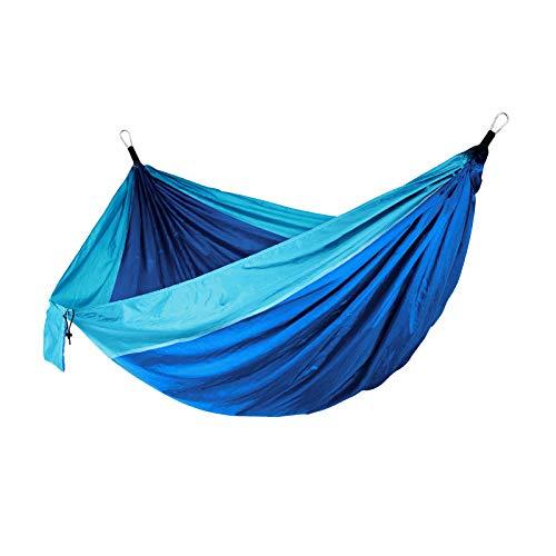 N/A/a Hamaca de Camping, hamacas de paracaídas portátiles para Senderismo al Aire Libre Viaje Backpacking-Hamaca de Nylon 210D Columpio para Patio Trasero y - Azul