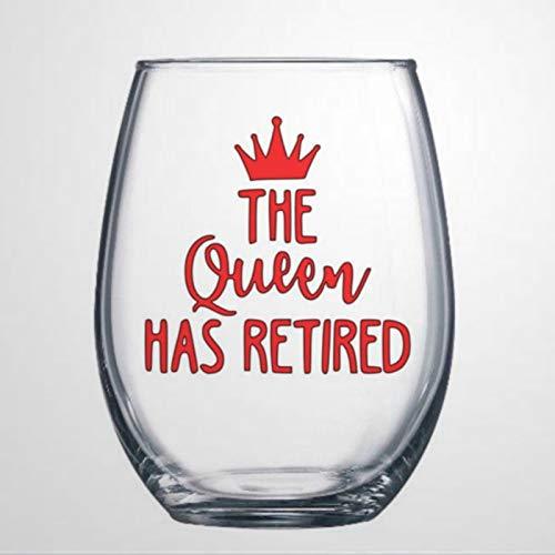 Copa de vino de jubilación I'm retirado Copa de vino regalo de jubilación para mujeres fiesta de jubilación divertida copa de vino sin tallo, vaso de whisky personalizado, 15 onzas