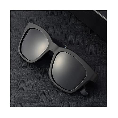 QSMGRBGZ Gafas Bluetooth Conducción Ósea, Gafas De Sol Polarizadas De Audio Bluetooth para Unisex, Al Aire Libre Inteligente Altavoz Abierto para Orejas De Gafas De Ciclismo,Negro