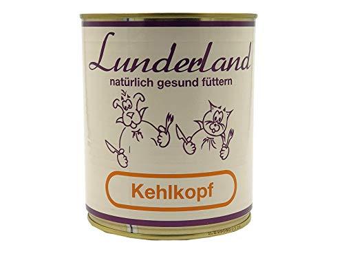 Lunderland-Dosenfleisch-Kehlkopf (Rind) 2 x 800g (insg. 1,6kg) Einzelfuttermittel für Hunde und Katzen