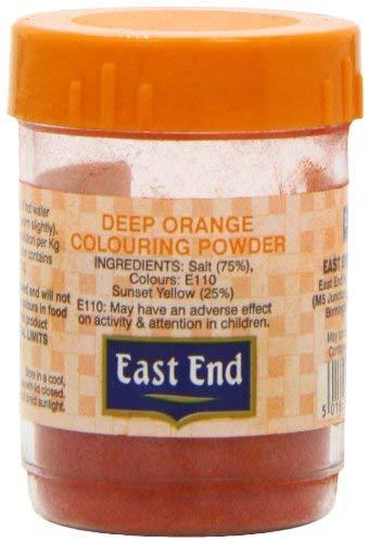 Voedsel kleurpoeder diep oranje Eastend 25 g (Pack van 12)