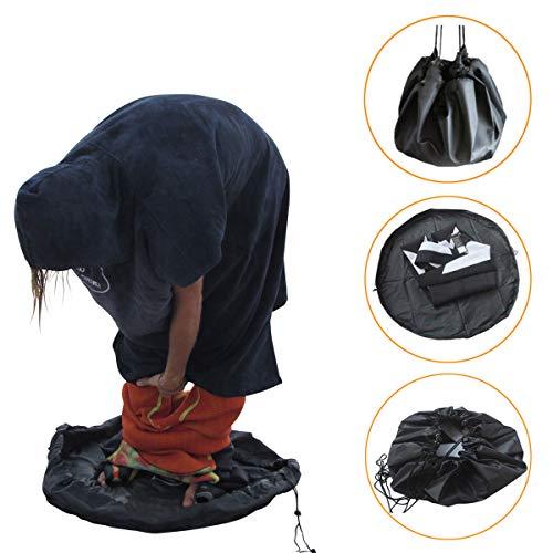 ALADILY Neoprenanzug-Tasche, tragbare Aufbewahrungstasche, Wickelunterlage mit Kordelzug, ideal für Schwimmen, Wassersport, Surfen, Kajaker, Strandurlaub und Bewegung im Freien