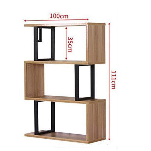 Yongfeng Bücherregal, moderner minimalistischer Bücherregal, Vitrinenschrank im Wohnzimmer, bodenstehendes Bücherregal, Ablagefach, wirtschaftliche und umweltfreundliche Möbel Bücherregale