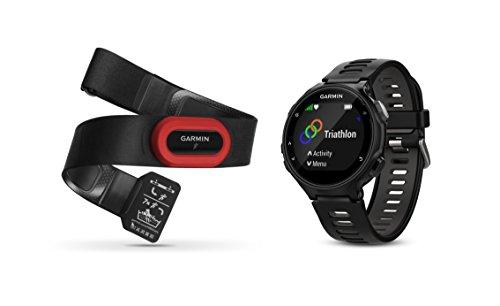 Garmin Forerunner 735XT Bundle, Multisport GPS Running Watch with Heart Rate, Includes HRM-Run Monitor, Black/Gray