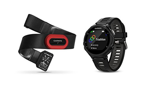 Garmin Forerunner 735XT Bundle, Multisport GPS Running Watch with Heart Rate, Includes HRM-Run Monitor, Black/Gray