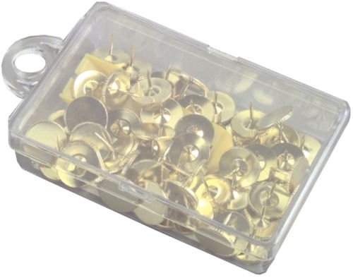 Premier Stationery Brass Thumb Tacks. Pack of 100.
