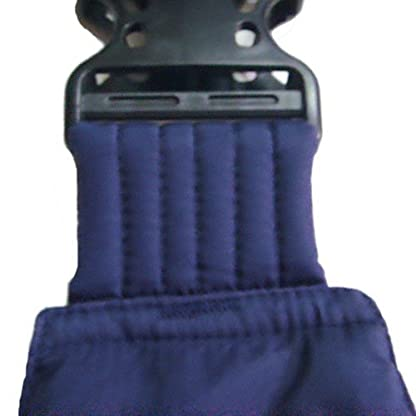 OrgMemory Pet Sling Carrier, Adjustable Sling Bag, Small Dog Cat Outdoor Shoulder Carrier Bag, Most Suitable: 3-10 lbs (Blue Plaid) 2