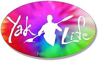 American Vinyl Licensed Oval Tie Dye Yak Life Sticker (Kayak Kayaking Kayaker Paddle)