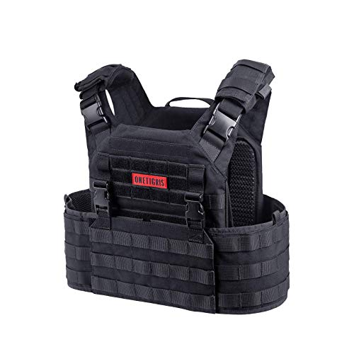 OneTigris Griffin AFPC Airsoft Chaleco Quick Release Táctico Chaleco Chaleco Transpirable Protector Pecho para CS Paintball (Negro)
