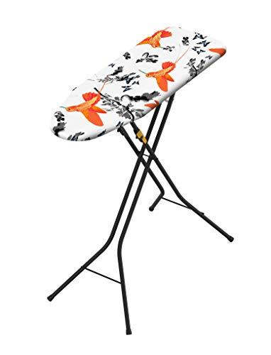 Rörets Bügelbrett - Dampfbügelbrett Tempo Black - Einfach zu verstauen und schnell im Einsatz! Patentiertes Bügelbrett für alle, die wenig Platz und Zeit haben! - L85xB30xH90 cm - schwedisches Design