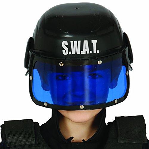 NET TOYS SWAT Kinderhelm Polizeihelm Kinder Einsatzhelm S.W.A.T. Schutzhelm Spezialeinheit Gefechtshelm Polizei Polizeikostüm Zubehör