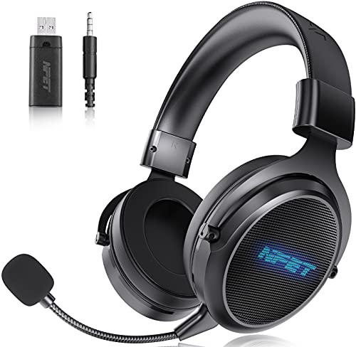 NPET HS30 Wireless Gaming Headset, Detachable...
